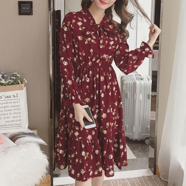 【dress】上品さをプラス綺麗なプリントワンピース