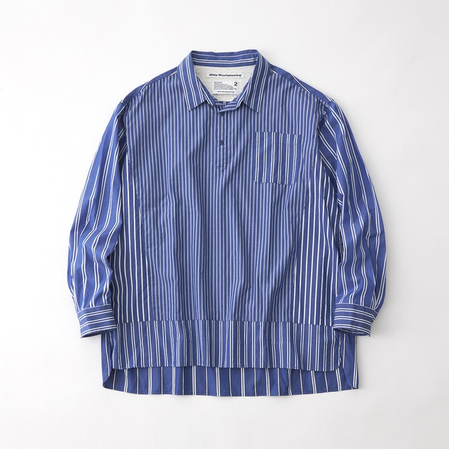 MULTI STRIPE ROUND SHIRT - BLUE