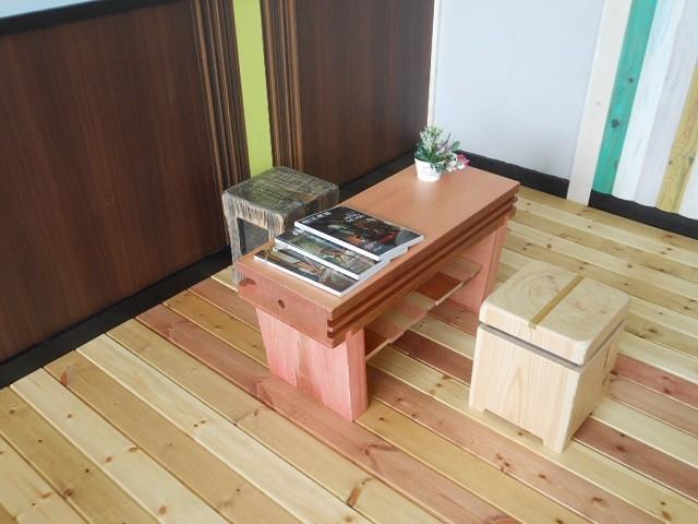 古材 ローテーブル03 - メイン画像
