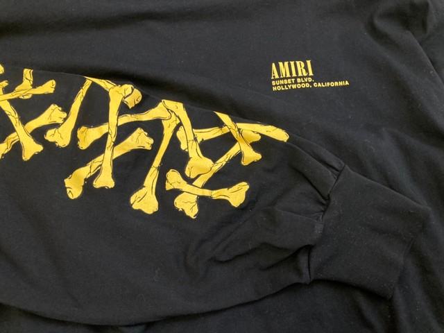 AMIRI BONE OVERSIZED L/S TEE BLACK MEDIUM 50KD4485