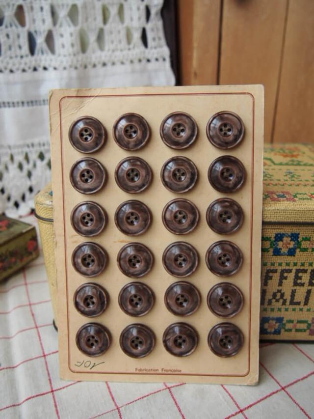 イギリスアンティーク ボタンシート(24個)