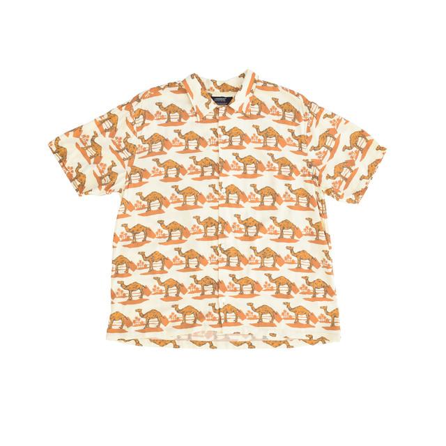 STAMMBAUM Aloha Shirt Camel Camel SOUVENIR-19S08