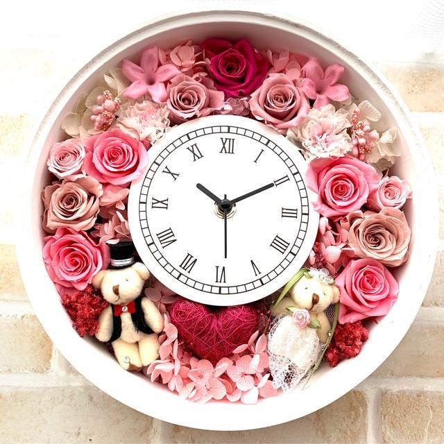 ◆受注制作◆ 花時計 ピンクB