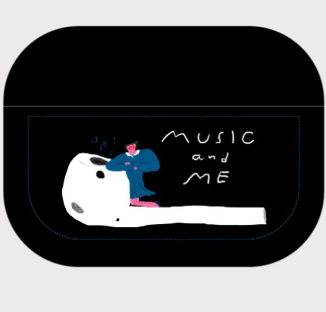 リクエスト・音楽と私AirPods proクリアケース