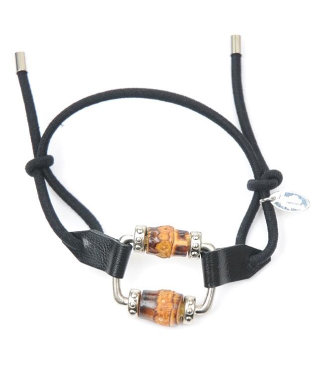 Joe16WT-06 banboo buckle leather gom S(black)