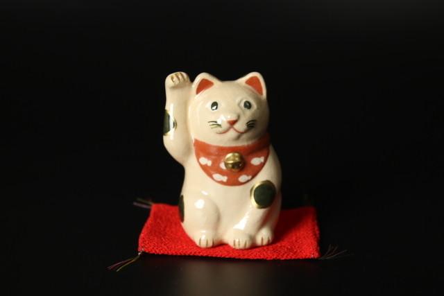 招き猫置物 清水焼