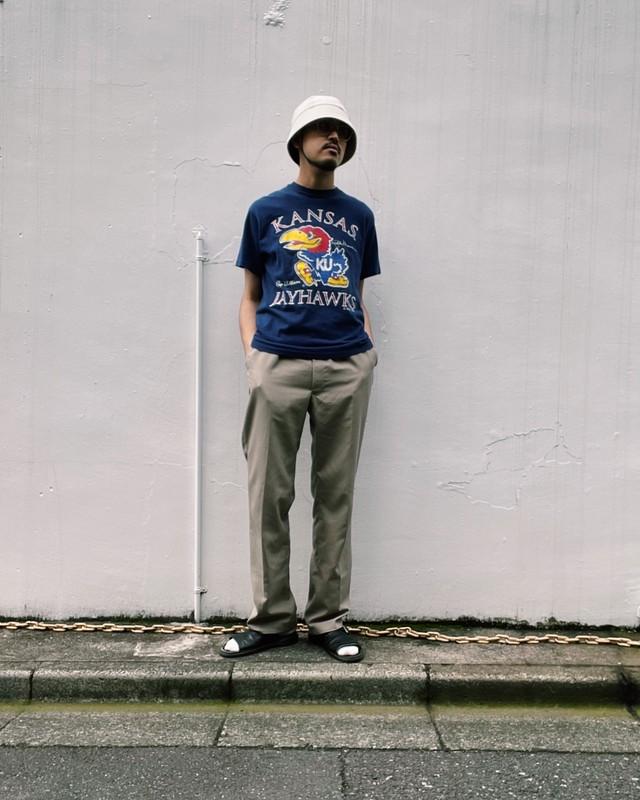 (CS237)90's Hanes printed T-shirt made in USA