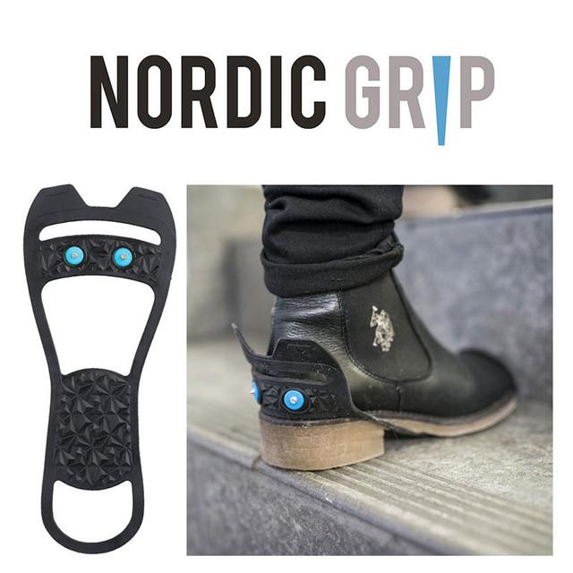 NORDIC GRIP(ノルディックグリップ) EASY 靴底用 滑り止め 凍結 路面 雪対策 積雪 雪道 スパイク アイスグリッパー スノーグラバー 転倒防止 滑らない ND-40