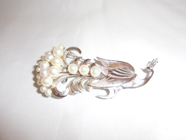 真珠の孔雀ブローチ(ビンテージ) pearls peacock vintage brooch(made in Japan)