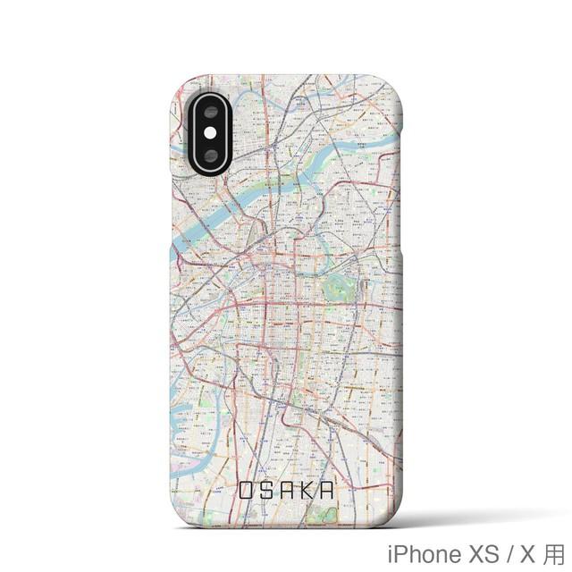 【大阪】地図柄iPhoneケース(バックカバータイプ・ナチュラル)