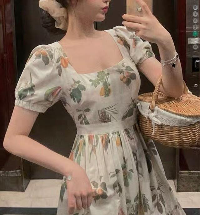 vintage garden dress