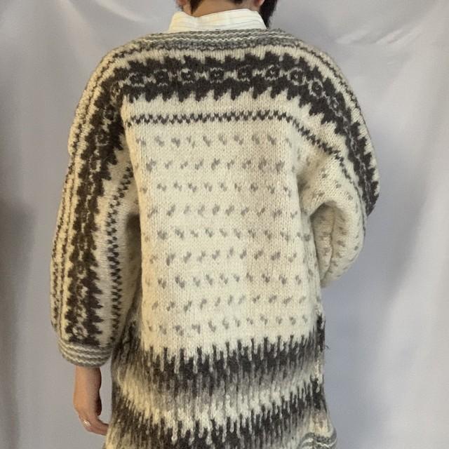 Vintage Nordic Sweater _03(ノルディック柄 カウチンカーデニット)