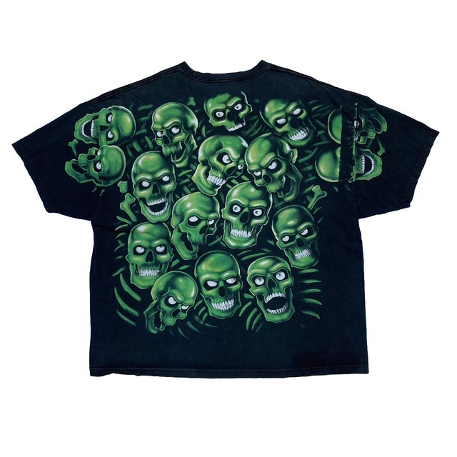 LIQUID BLUE GROW IN THE SKULL RARE VERSION MISS PRINT BACK PRINT ONLY 4XL