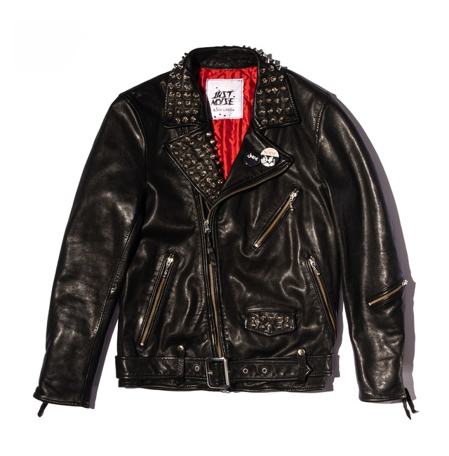 JUST NOISE BLACK LABEL: Leather Jacket-001