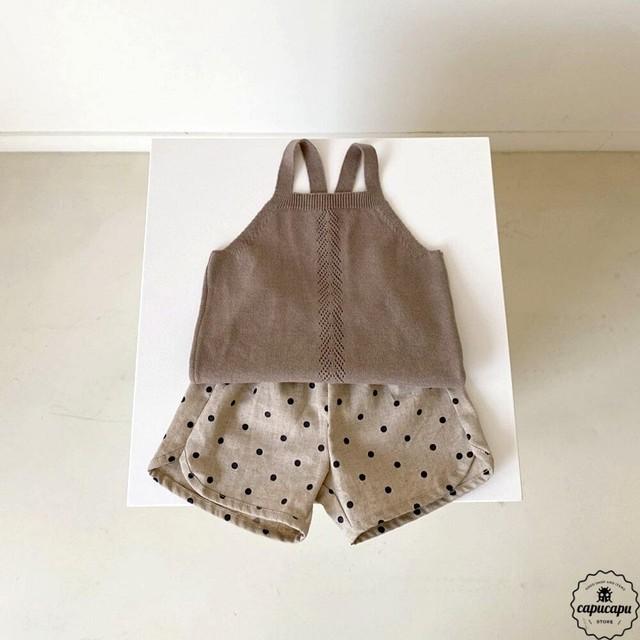 «予約» Aosta bazz linen short pants リネンドット パンツ