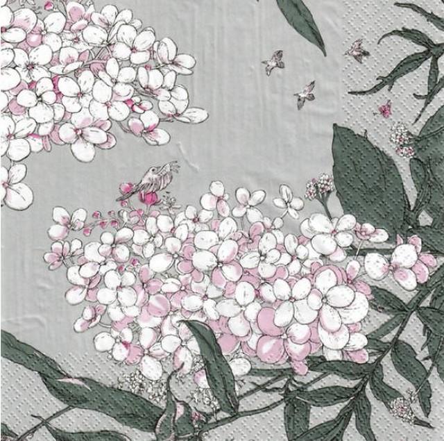 北欧【havi】バラ売り1枚 ランチサイズ ペーパーナプキン Syysmuutto グレー Designed by Nuppu