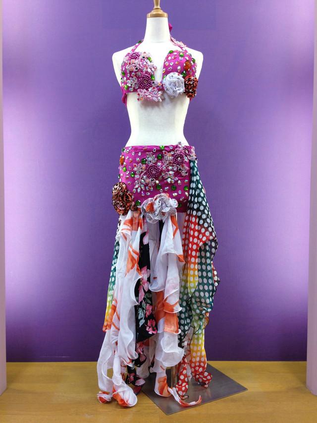 ベリーダンス衣装 コスチューム ポップ柄