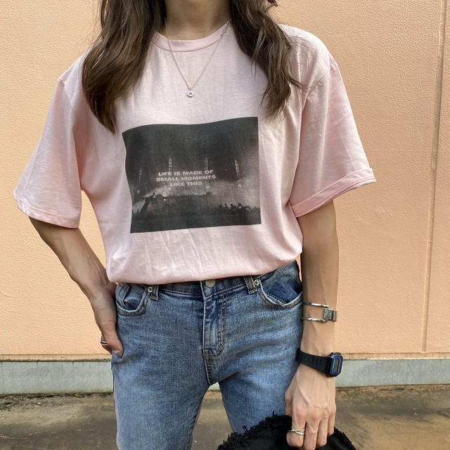 ✔︎SpacePhoto artルーズtee/pink