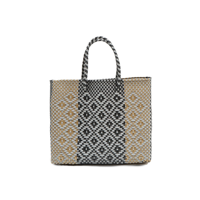 MERCADO BAG ROMBO AW BLEND    -  Gold x Silver x Black (XS)
