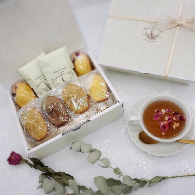 【4/25~4/30 お届け】お花のマドレーヌギフト6個入 紅茶セット 【4/9~4/18 予約受付】