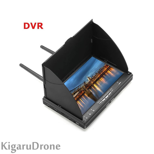 Eachine LCD5802D  7インチLCDスクリーンFPVモニター Gデュアル受信機40 CH (DVR機能付)