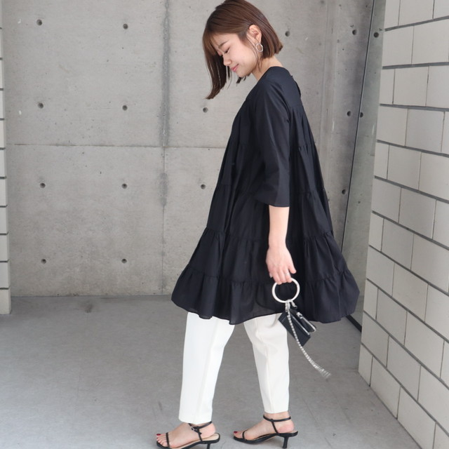 tiered cotton tunic
