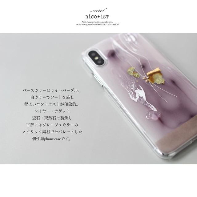 【nico+isT】iPhoneケース パープル