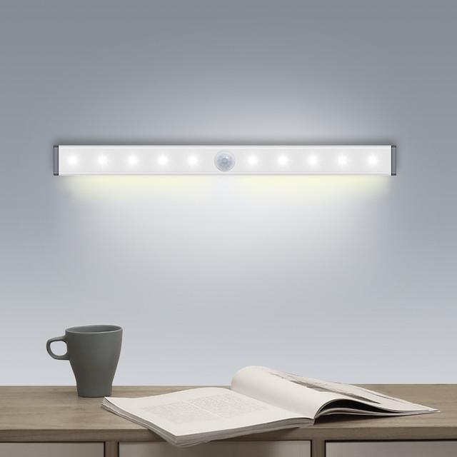 【即納】マグネット簡単取り付け【USB充電式LEDセンサーライト】 29.7cm