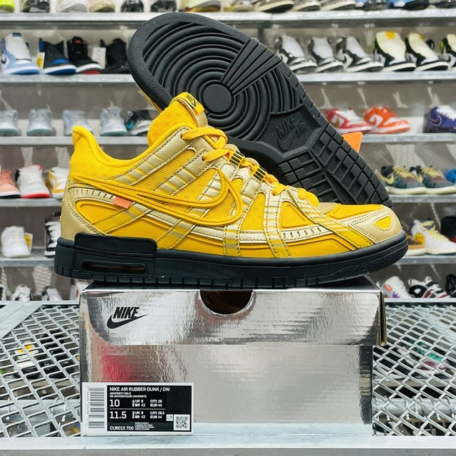 NIKE × OFF-WHITE AIR RUBBER DUNK / OW GOLD CU6015-700 28cm