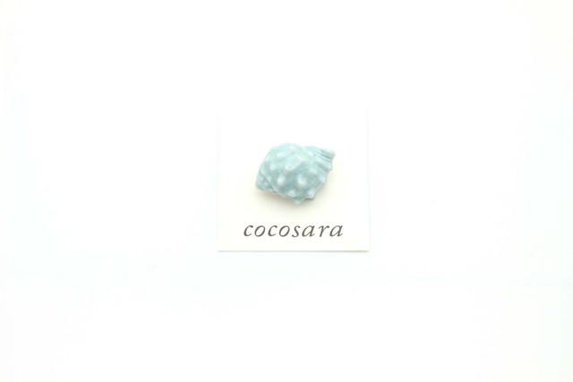 有田焼 小さいブローチ 貝殻 ②
