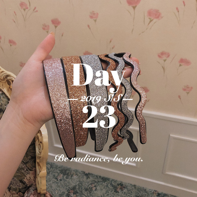 5/25 新色&再販 glitter hairband W set