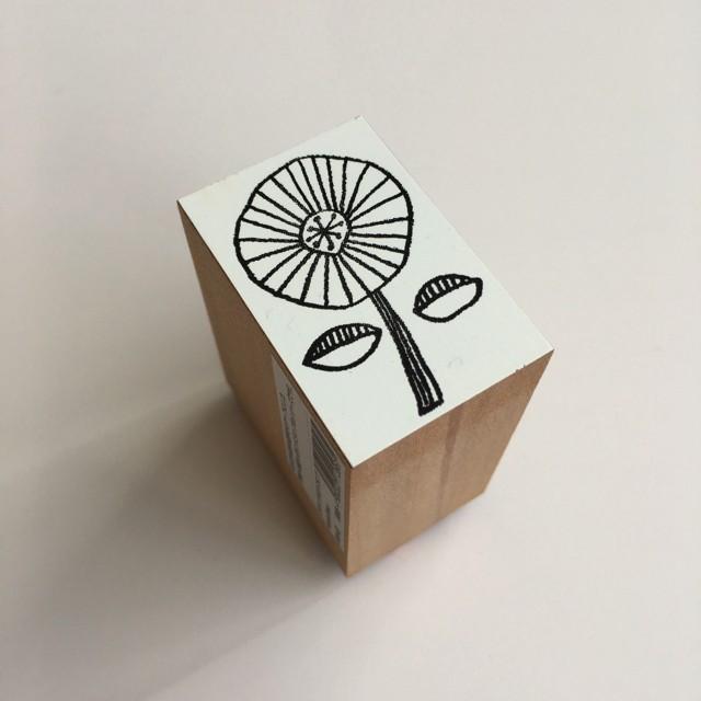 カタチ×ソラモヨウスタンプ wheeled flower