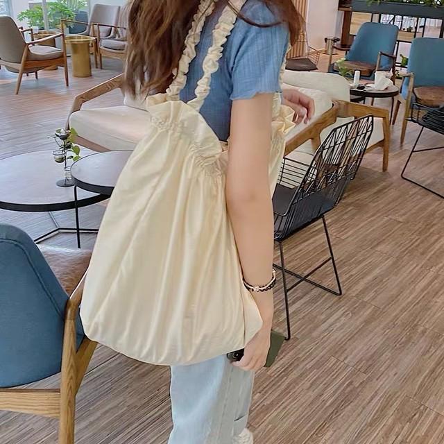 big size frill tote bag 2c's
