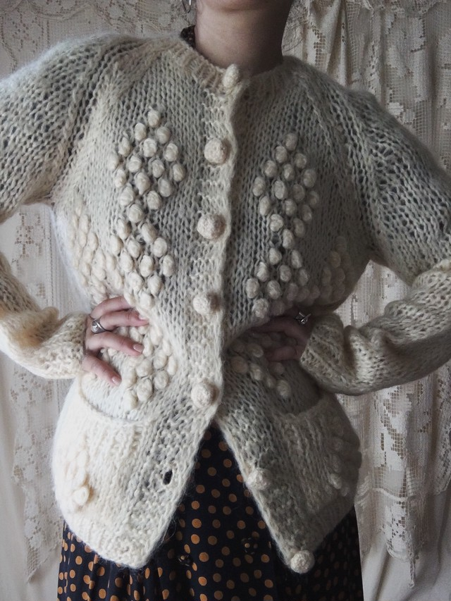 White Mohair Cardigan