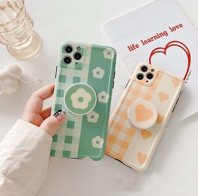 【オーダー商品】グリップ付きLove Flower Phone Case