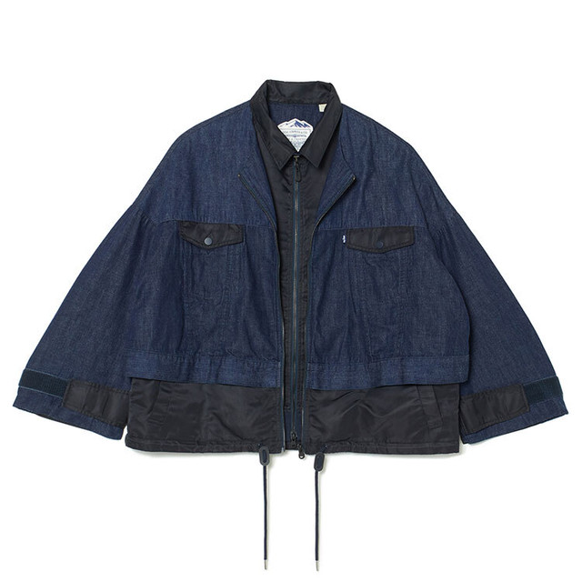 WM x LMC DOUBLE ZIP BLOUSON - INDIGO