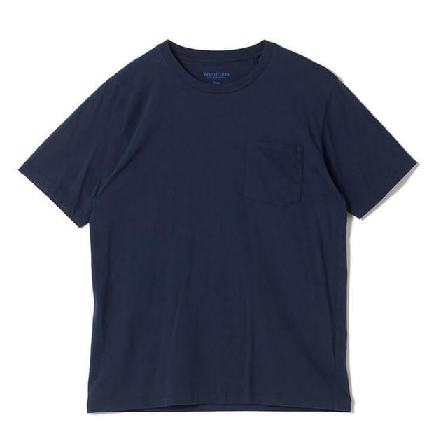 White Mountaineering / CREW NECK POCKET T-SHIRT[NAVY / WHITE]