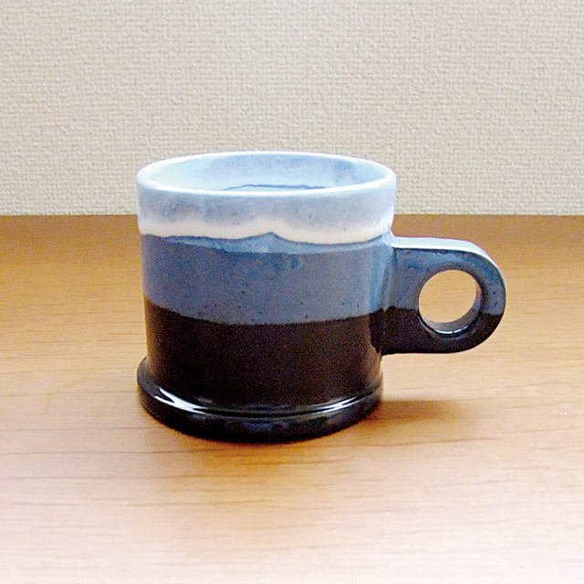 "Echo Park Pottery ""Mug"" Blue×Black"