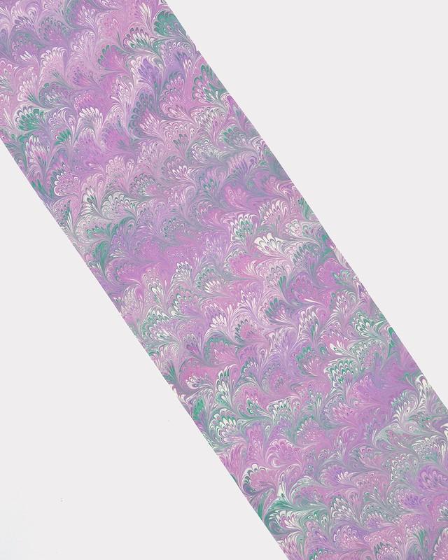 墨流し八掛 本紫×孔雀緑