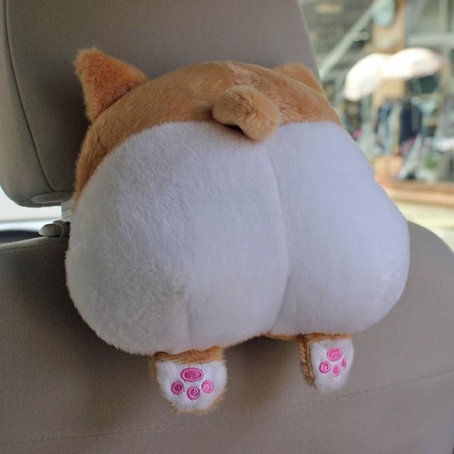 【カー用品】猫のおしりシートネック枕