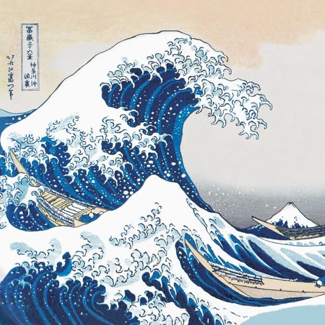 2021春夏新作【Paperproducts Design】バラ売り2枚 ランチサイズ ペーパーナプキン The Great Wave ブルー
