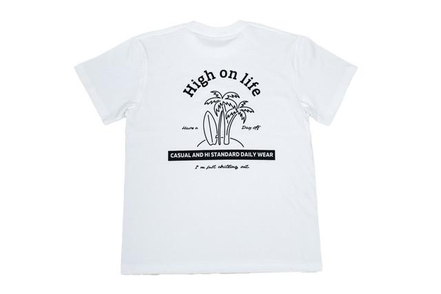 再販【high on life T-shirt】/ white