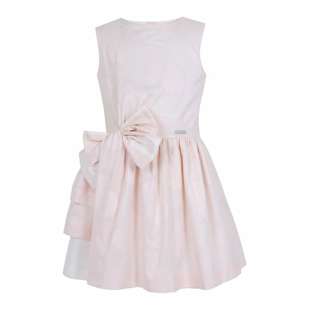 LAYLA DRESS PINK FLOWER JACQUARD =JESSIE AND JAMES =