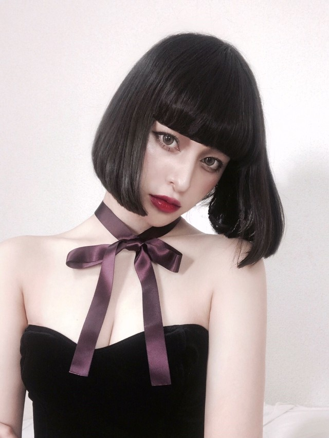 hs18WT-JR03 LONG RIBBON CHOKER