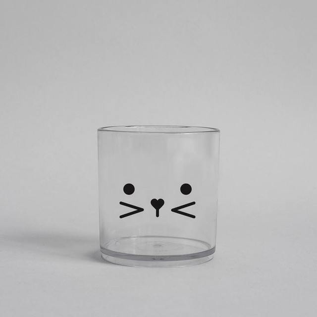 BUDDY+BEAR Bunny FaceTumbler 250ml [clear]