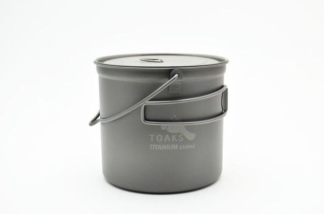 新品 Toaks Titanium Pots 1100ml