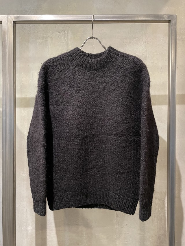 TrAnsference nordic knit pullover - imperfection black garment dyed