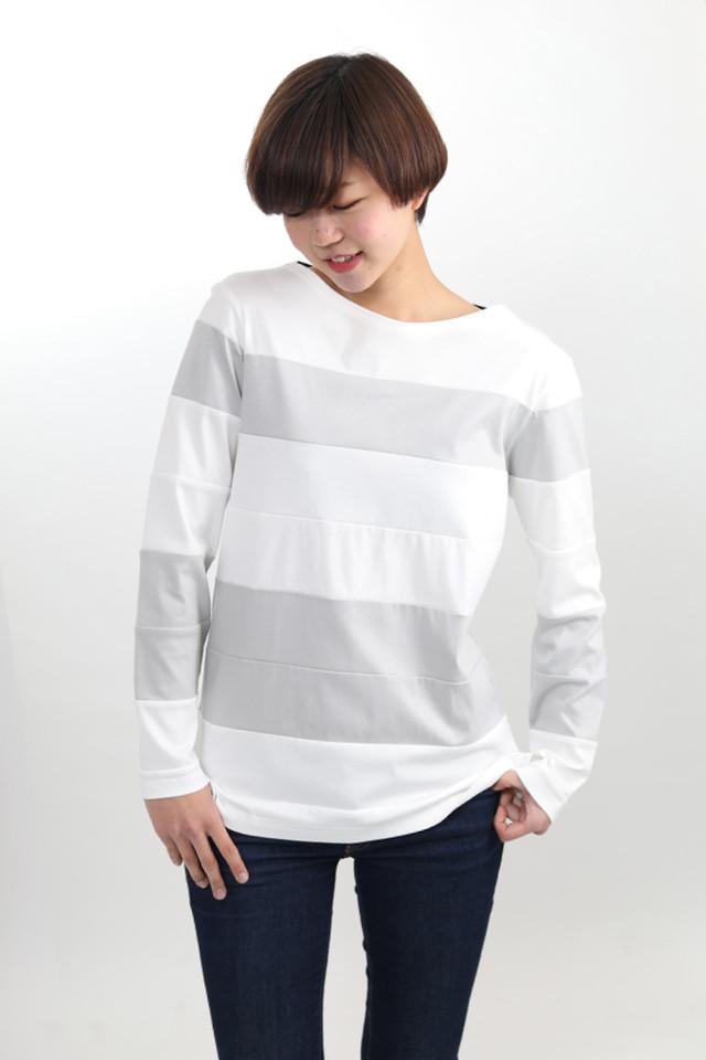 ○△□【ボーダーロングTシャツ】