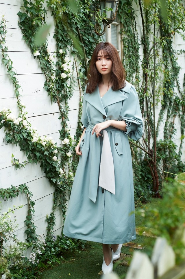 Belted Dress Trench Coat
