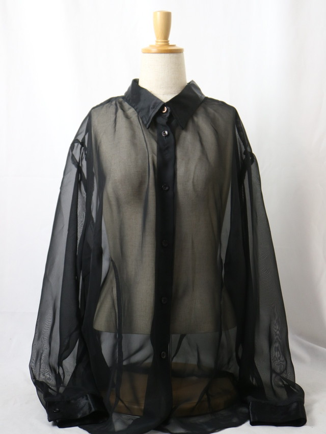 over size sheer shirt【5646】